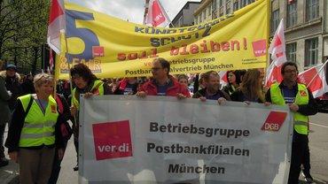 Streik bei der Postbank München