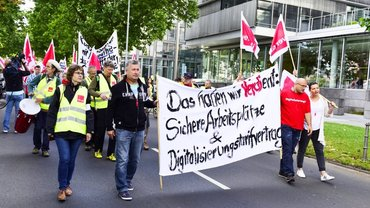 Dritte Streikwelle Frankfurt 9