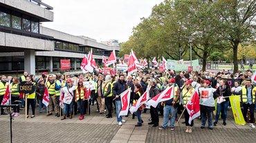 BHW- und Postbank-Streik in Niedersachsen am 13.10.2017